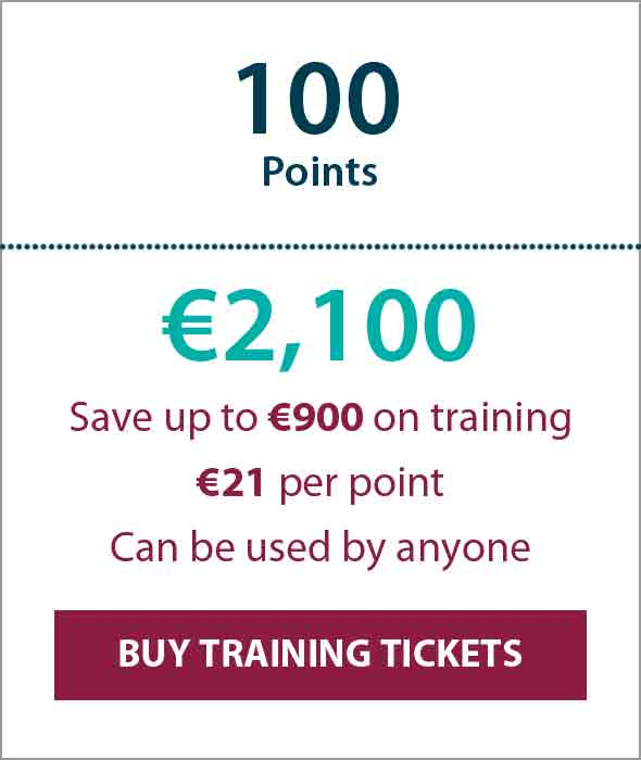 Training Ticket Panels - 100 Points min