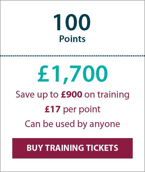 Training Ticket Panels - 100 Points Sterling