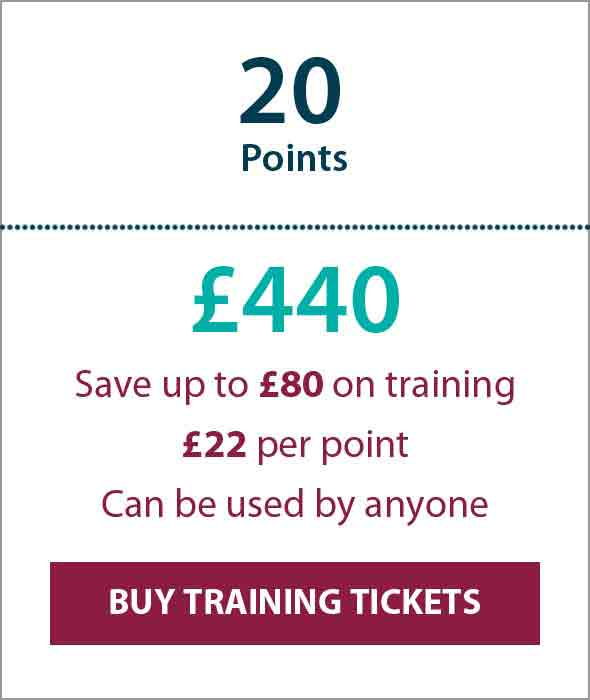 Training Ticket Panels - 20 Points Sterling
