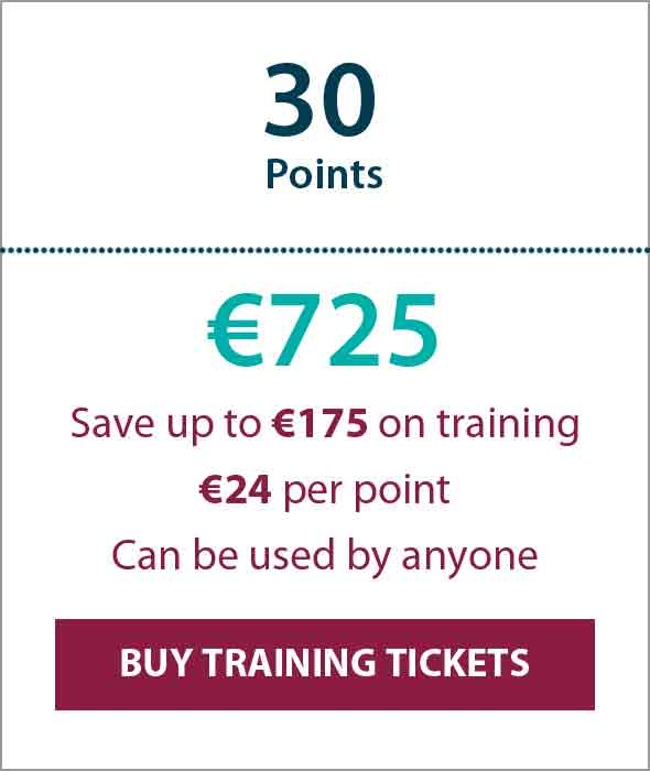 Training Ticket Panels - 30 Points min