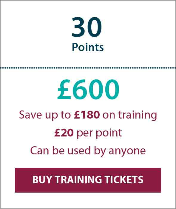 Training Ticket Panels - 30 Points Sterling