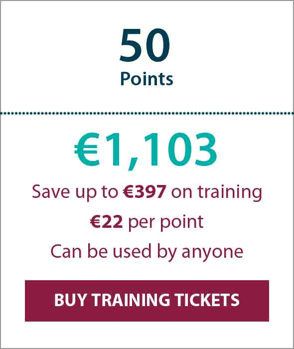 Training Ticket Panels - 50 Points min