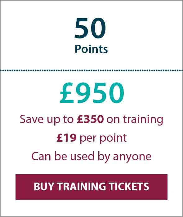 Training Ticket Panels - 50 Points Sterling